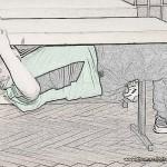 Body Row am Tisch Beine angewinkeltBody Row am Tisch Beine angewinkelt