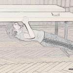 Body Row am Tisch Beine angewinkeltBody Row am Tisch Beine gestreckt