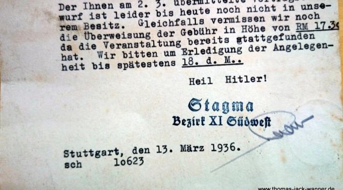 STAGMA-GEMA 1936