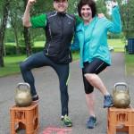 Einzelsieger Thomas Jack Wanner und Margarete Baur