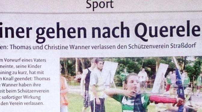 Thomas und Christine Wanner verlassen den SV Straßdorf