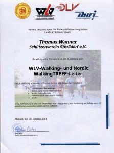 Die Ausbildung zum zertifizierten Walking- und NordicWalking Treff-Leiter war Bestandteil der WLV- Leichtathletik-Trainer-Lizenz.
