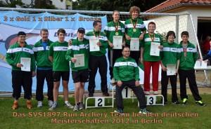 Das SVS1897 Run Archery-Team