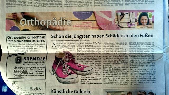 Rems-Zeitung Orthopädie-Schuhtechniker