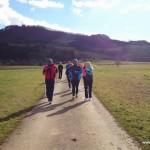 Laufgruppe vor Rechberg