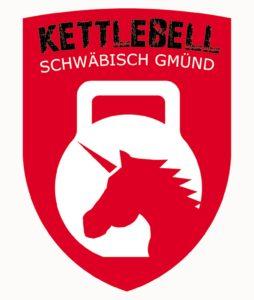 Kettlebell Einhorn Logo mit Rand