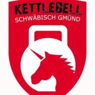 cropped Kettlebell Einhorn Logo mit Rand