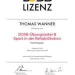 reha-lizenz Thomas Wanner