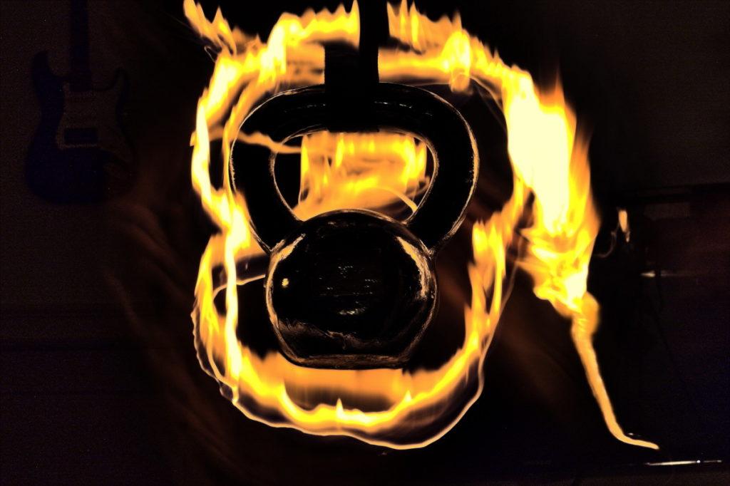 Brennende Kettlebell