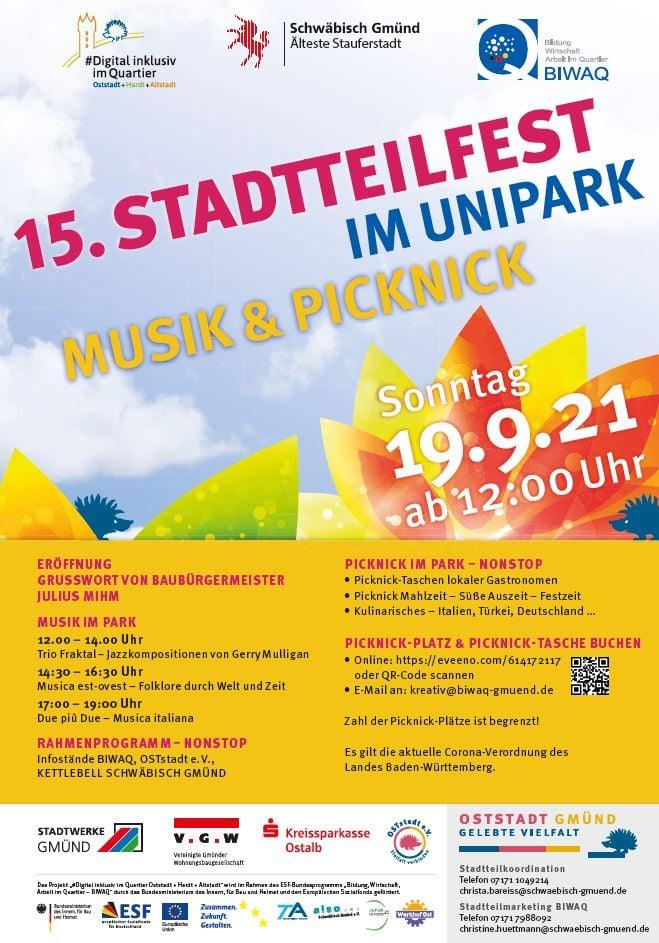 15. Stadtteilfest im Unipark Schwäbisch Gmünd